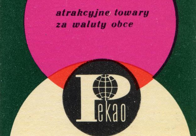 Fragment pudełka zapałek z reklamą Pekao /reprodukcja Piotr Mecik /Agencja FORUM