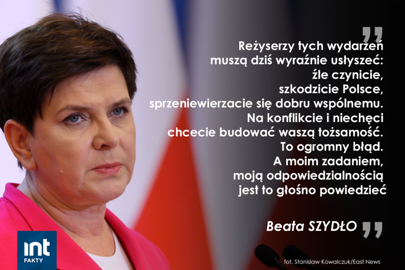 Fragment wystąpienia premier Beaty Szydło /INTERIA.PL