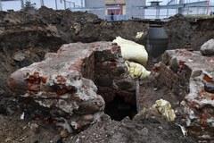 Fragment zabytkowej wieży znaleziony na terenie Zakładu Karnego w Nowogardzie