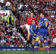 Frament meczu na Old Trafford