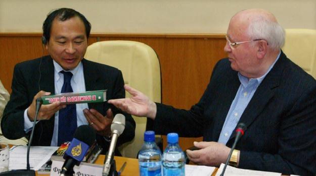 Francis Fukuyama i Michaił Gorbaczow /AFP