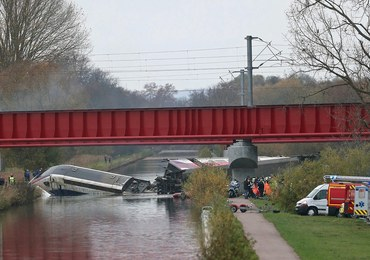 Francja: Pięciu zaginionych po katastrofie pociągu TGV