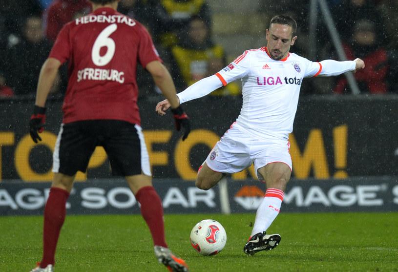 Franck Ribery w meczu z Freiburgiem /AFP