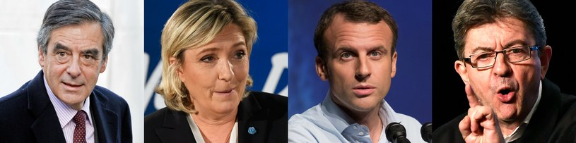 François Fillon, Marine Le Pen, Emmanuel Macron, Jean-Luc Mélenchon /AFP