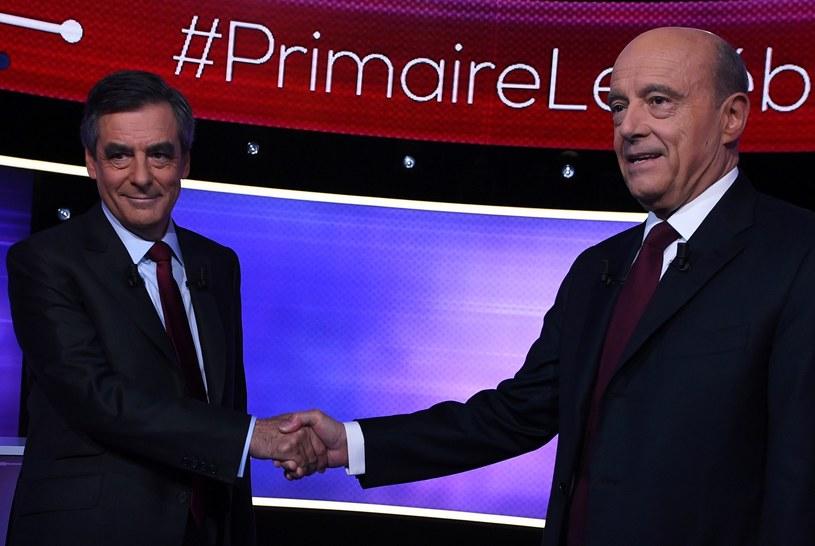 Francois Fillon (z lewej) i Alain Juppe /AFP