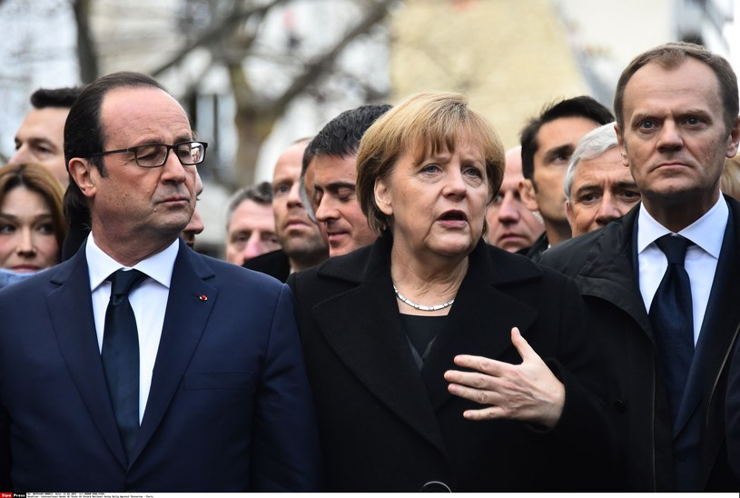 Francois Hollande, Angela Merkel i Donald Tusk /ORBAN-POOL/SIPA /East News