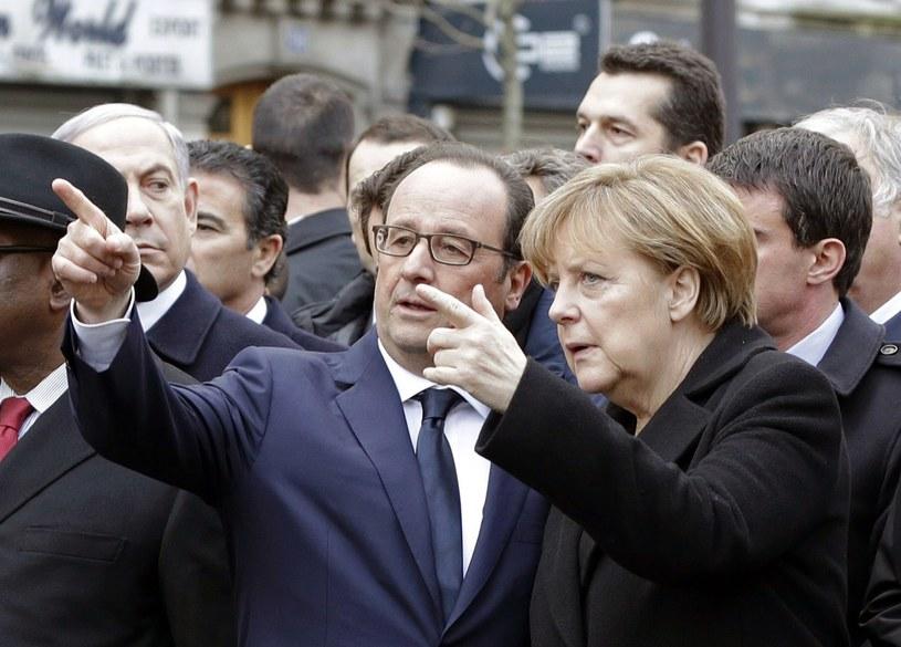Francois Hollande i Angela Merkel /AFP