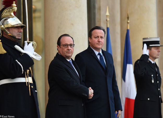 Francois Hollande i David Cameron /AFP /East News