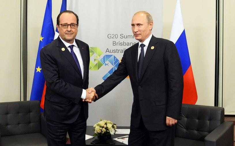 Francois Hollande i Władimir Putin podczas szczytu G20 w Brisbane /AFP