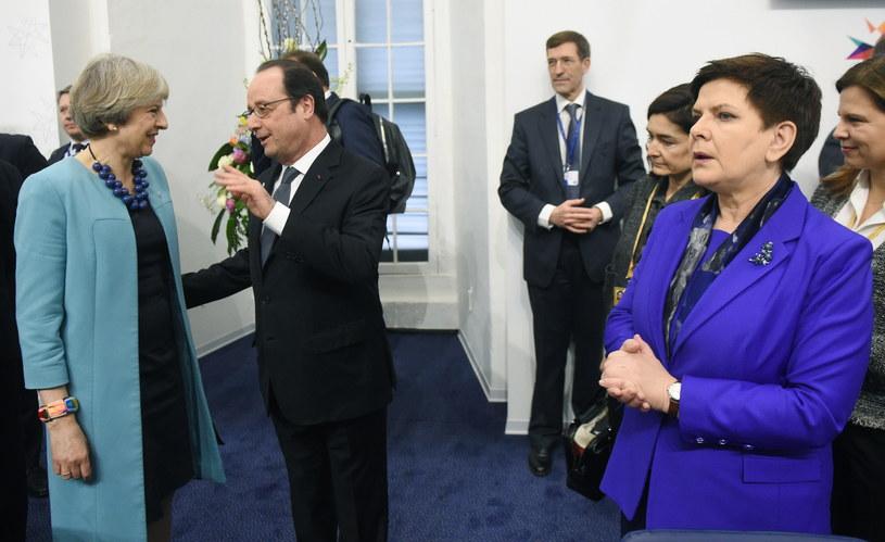Francois Hollande, Theresa May i Beata Szydło /Radek Pietruszka /PAP