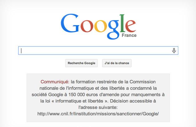 Francuski sąd zmusił Google do umieszczenia na stronie specjalnego komunikatu. /materiały prasowe