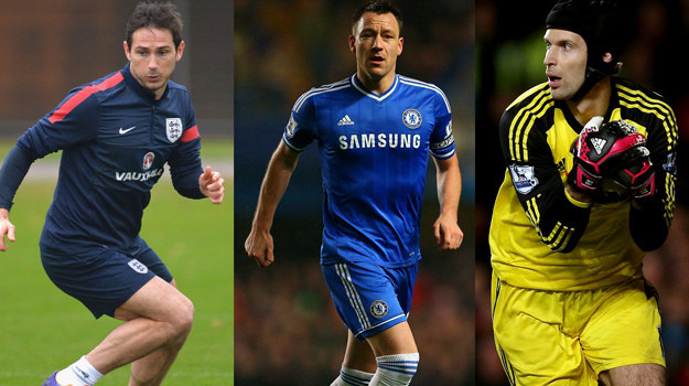 Frank Lampard, John Terry i Petr Cech /Ian Walton, Christopher Lee, Scott Heavey /Getty Images