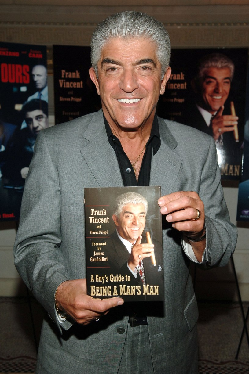 "Frank Vincent na promocji swej książki ""A Guy's Guide To Being a Man's Man"" (2006, Nowy Jork) /Bryan Bedder /Getty Images"