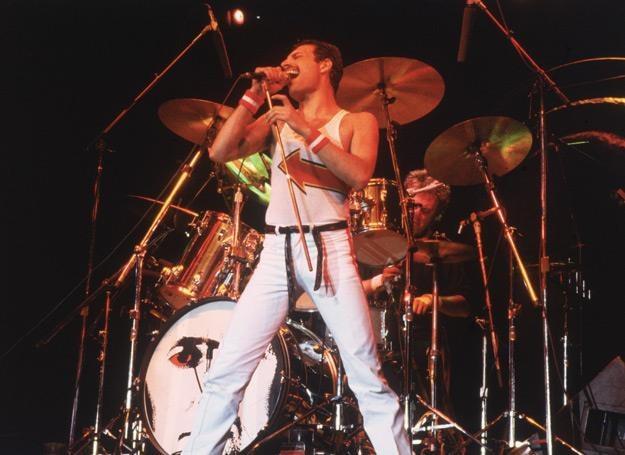 Freddie Mercury (Queen) w 1982 roku - fot. Fox Photos/Hulton Archive /Getty Images