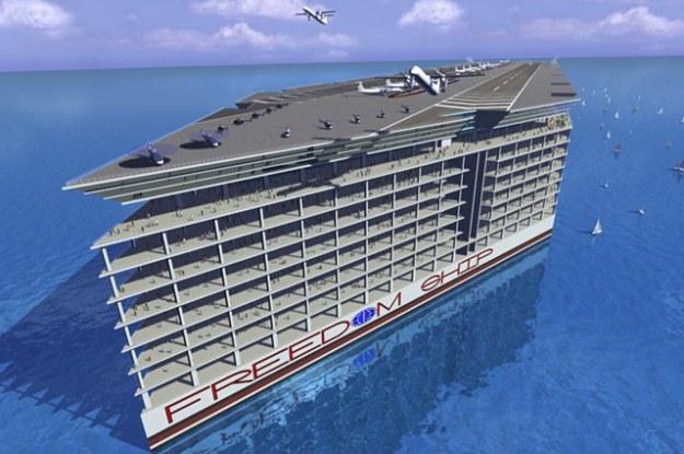 Freedom Ship to prawdziwe pływające miasto (Fot. Freedom Ship) /Internet