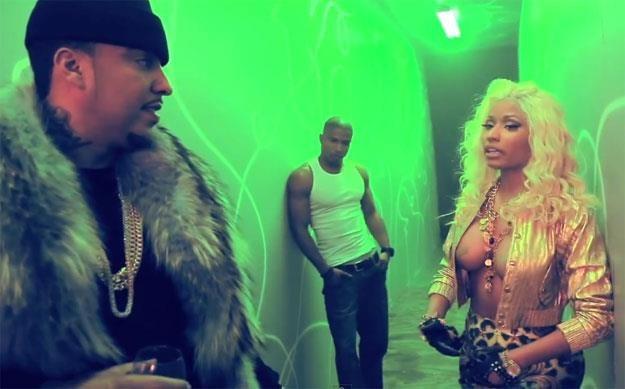 French Montana patrzący prosto w oczy Nicki Minaj /
