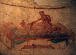Fresk ze ściany domu publicznego w Pompejach /AFP