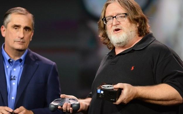 Gabe Newell - wystąpienie na CES 2014 /AFP