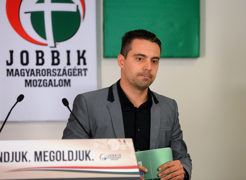 Gabor Vona, lider węgierskiej partii Jobbik, która w kwietniowych wyborach zdobyła ponad 20 proc. głosów /AFP