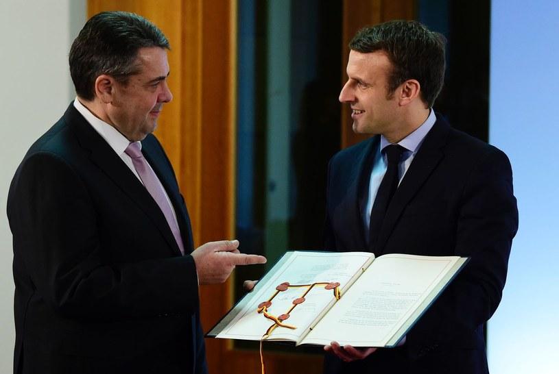 Gabriel i Macron /AFP