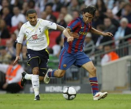 Gai Assulin w towarzyskim meczu Barcy z Tottenhamem /AFP