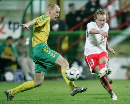 Gaminidas Paulauskas w barwach Litwy/Fot: Łukasz Grochala /Agencja Przegląd Sportowy