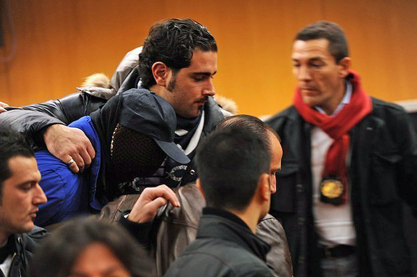 Gaspare Spatuzza (zamaskowany) /AFP