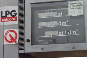 Gaz do samochodów coraz droższy