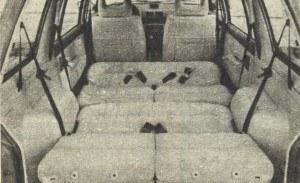 Gdy w Mitsubishi rozłoży się siedzenia, dwie osoby mogą spać w czasie jazdy, pod warunkiem, że bagaż pozostanie w domu. /Mitsubishi