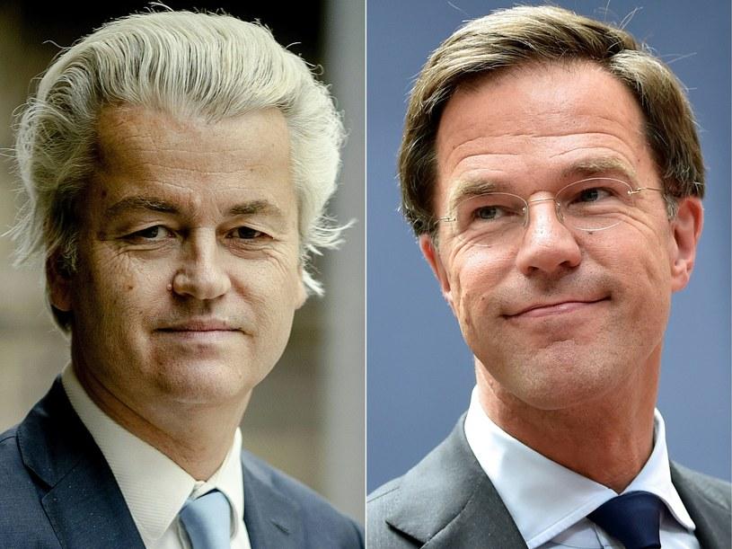 Geert Wilders (z lewej) i Mark Rutte /AFP