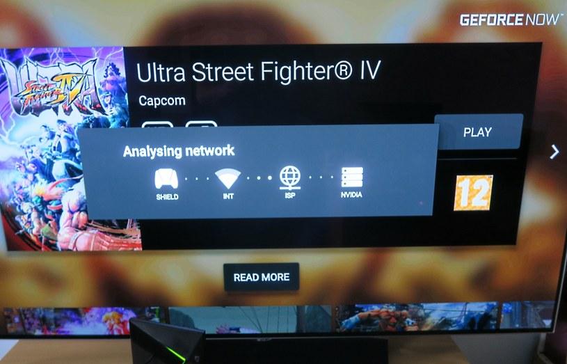 GeForce NOW sprawdza nasze połączenie przed uruchomieniem gry - bez dobrego łącza nie ma mowy o komfortowym graniu /INTERIA.PL
