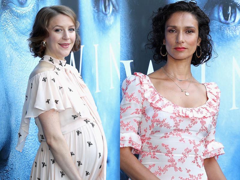 "Gemma Whelan i Indira Varma na premierze 7. sezonu 'Gry o tron"" /Neilson Barnard /Getty Images"