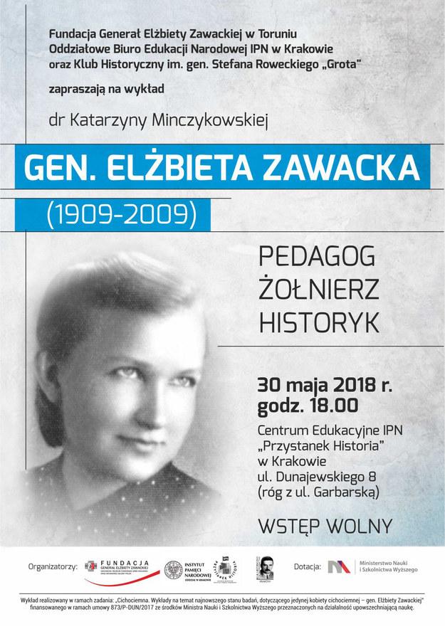 """""""Gen. Elżbieta Zawacka – pedagog, żołnierz, historyk"""" /IPN"""