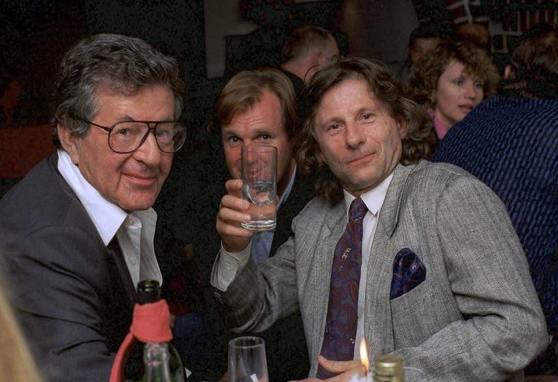 Gene Gutowski, Wojciech Fibak i Roman Polański w 1989 roku /Jacek Domiński /Reporter