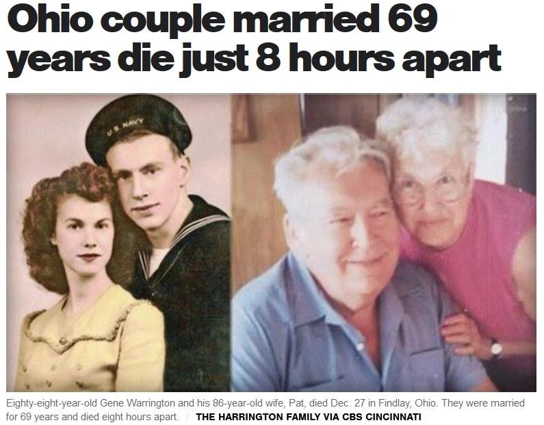Gene Warrington i jego małżonka Pat. Źródło: CBS NEWS /