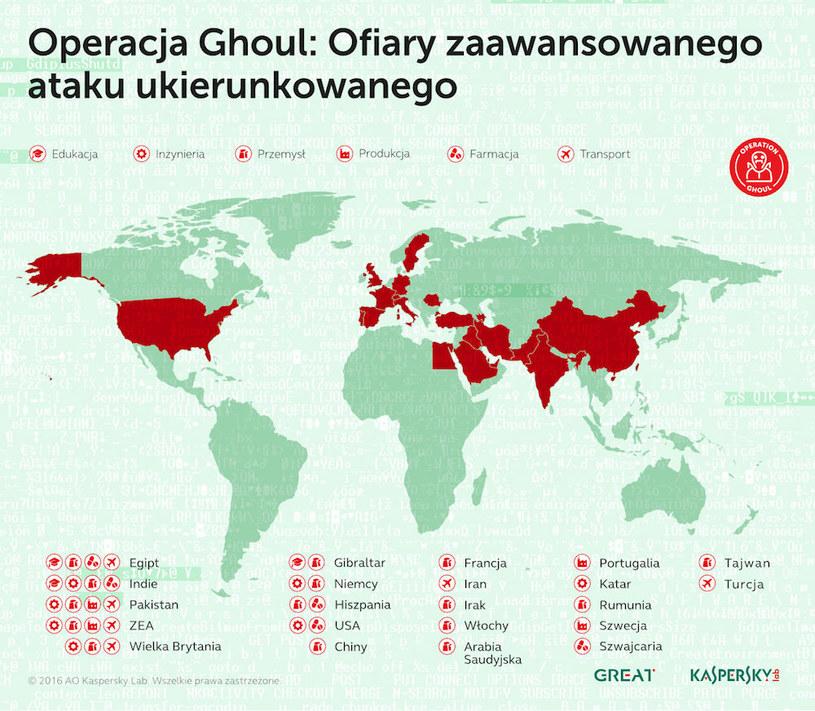 Geografia ataków w ramach operacji Ghoul /materiały prasowe