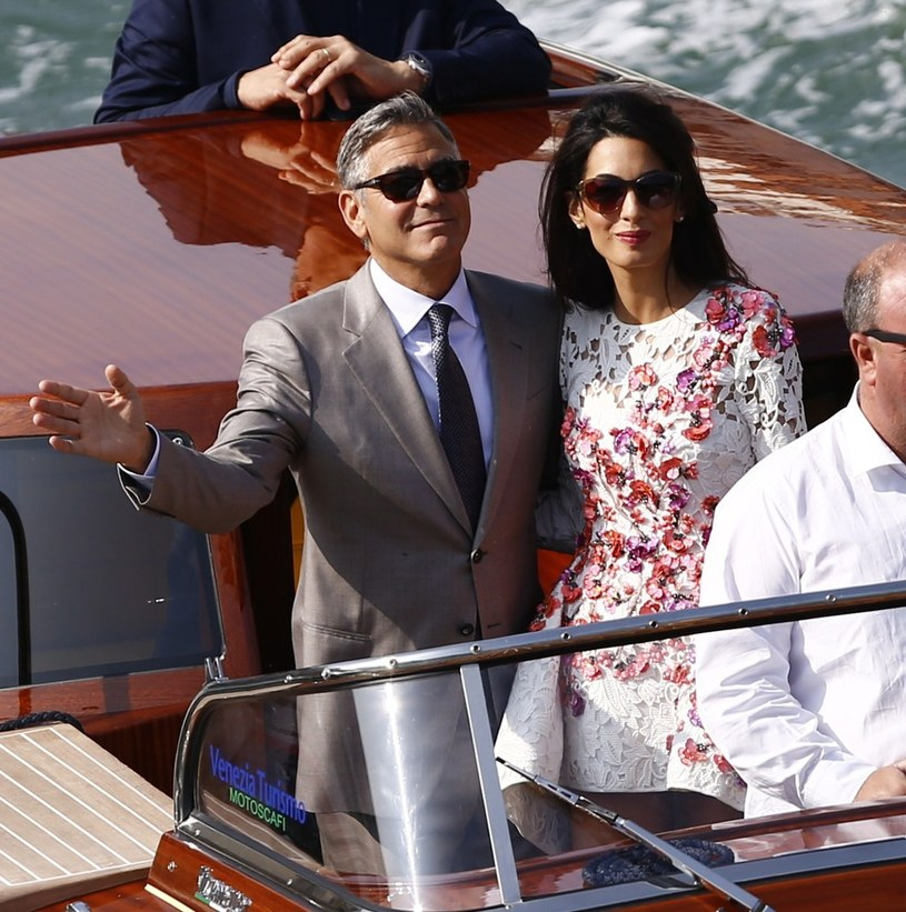George Clooney i Amal Alamuddin po ślubie 28 czerwca /East News