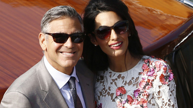 George Clooney poślubił Amal Alamuddin /AFP/PIERRE TEYSSOT /East News