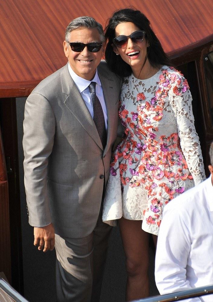 George Clooney z żoną Amal Alamuddin /AP FOTOLINK /East News