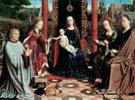 Gerard David, Matka Boska ze świętymi i adorantami, 1509 r /Encyklopedia Internautica