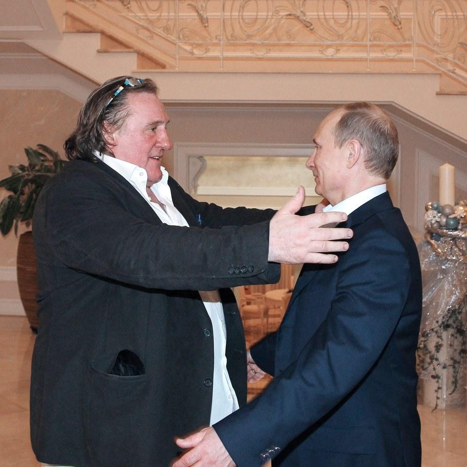 Gerard Depardieu i Władimir Putin /MIKHAIL KLIMENTYEV / POOL /PAP/EPA