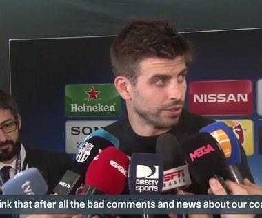 Gerard Pique po awansie Barcelony. Wideo