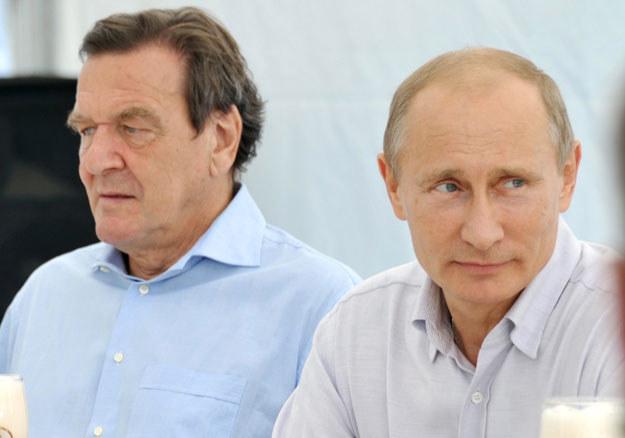 Gerhard Schroeder i Władimir Putin fot. Alexey Nikolsky / Ria Novosti /AFP