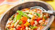 Gęsta zupa z włoszczyzną i fasolą