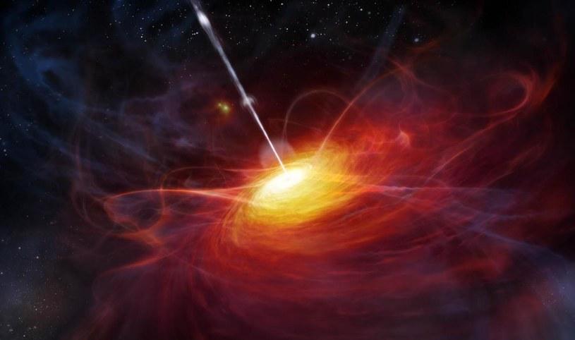 Gigantyczna czarna dziura jest 12 miliardów cięższa od Słońca /materiały prasowe