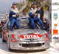 Gilles Panizzi i Herve Panizzi na mecie Rajdu Korsyki