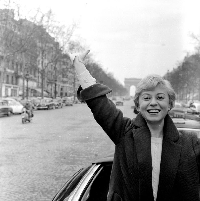Giulietta Masina w 1956 roku w Paryżu /John Sadovy  /Getty Images