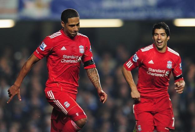 Glen Johnson (z lewej) zapewnił Liverpoolowi wygraną z Cheslea/fot. Shaun Botterill /AFP
