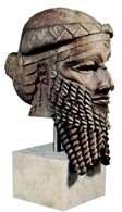 Głowa księcia akadyjskiego (być może Sargona), 2. poł. III tysiąclecia p.n.e., gips /Encyklopedia Internautica