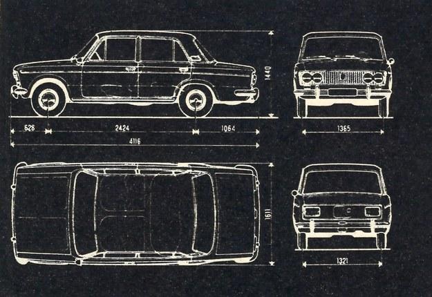 Główne wymiary samochodu. /Motor